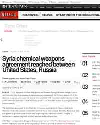 Syria chemical weapons agreement reached between United States: CBS News
